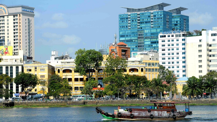 Ho Chi Minh City shows some of the architecture reflecting its French colonial-era. You can fly to the city once called Saigon for $567 on China Airlines.