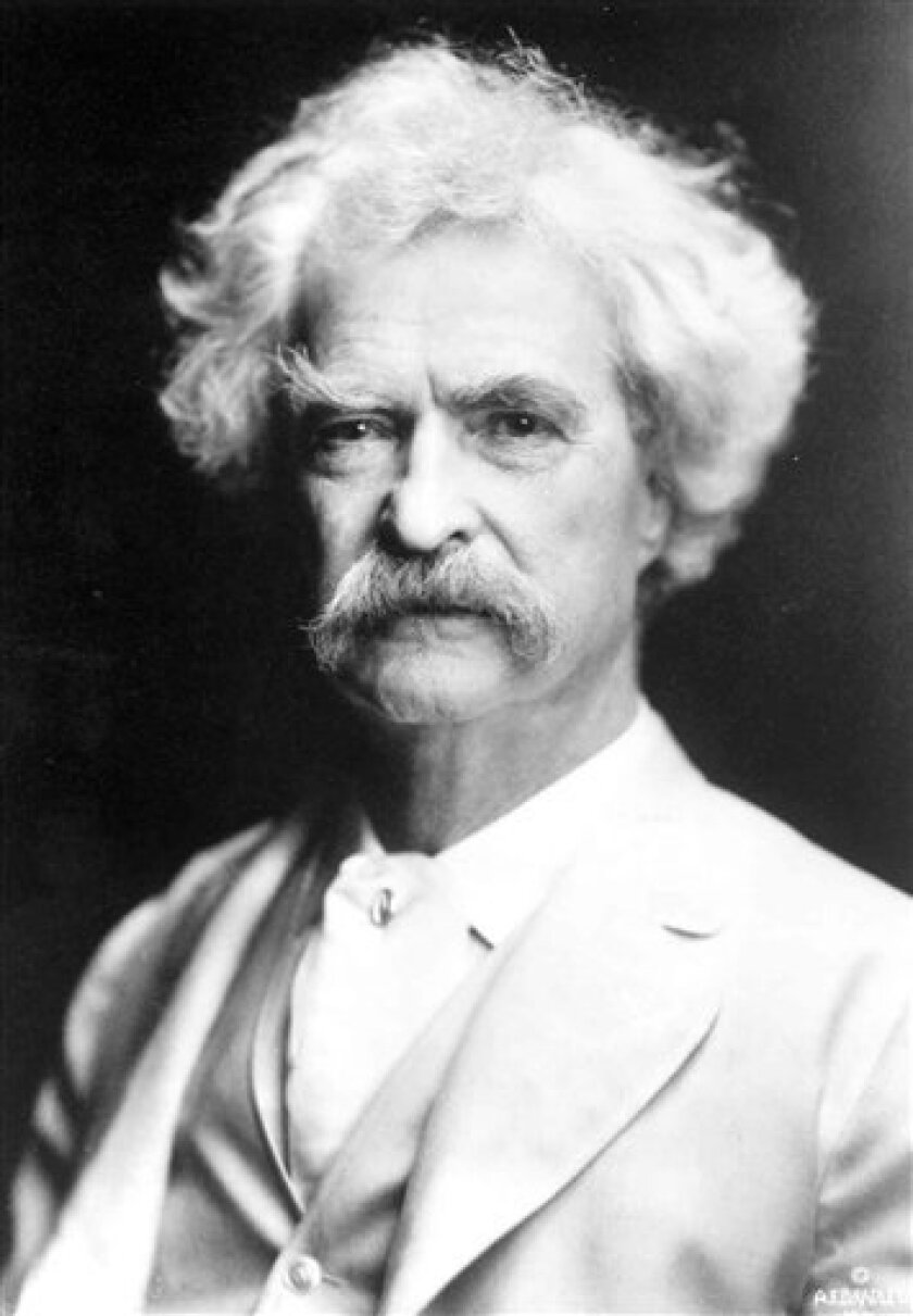 """FILE - An undated file photo originally provided by The Mark Twain House & Museum shows author Mark Twain. Twain scholar Alan Gribben, who is working with NewSouth Books in Alabama > to publish a combined volume of Twain's """"Adventures of Huckleberry Finn"""" and """"Tom Sawyer"""" that bowdlerizes both books. (AP Photo/The Mark Twain House & Museum, file) -- NO SALES --"""