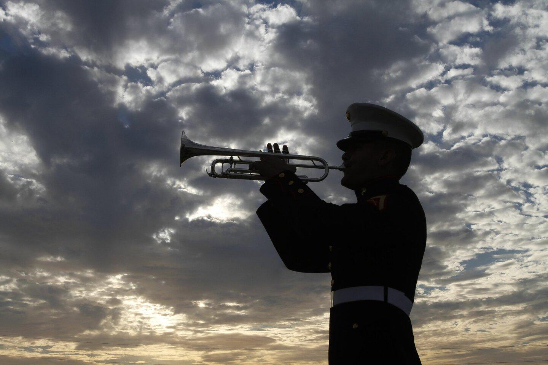 Sunset Memorial for 69th Iwo Jima Anniversary