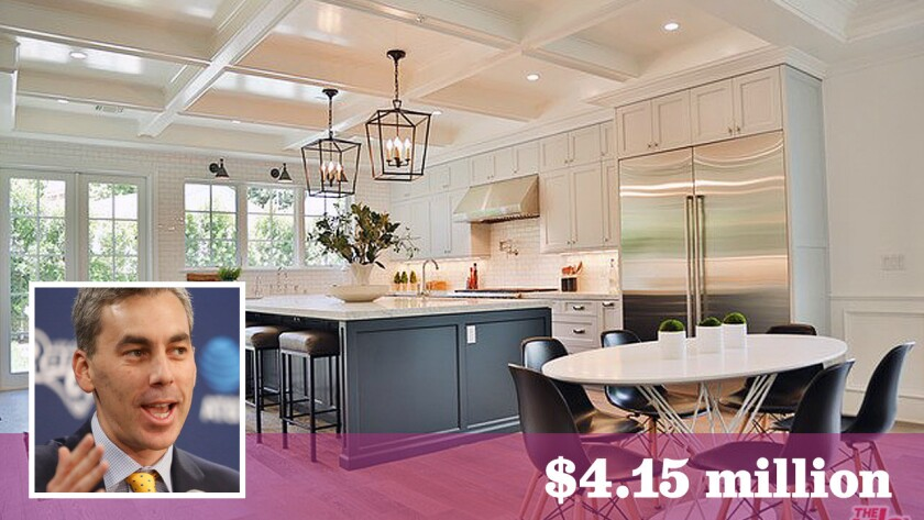 Kevin Demoff, vice president of football operations for the L.A. Rams, has paid $4.15 million for a home in Cheviot Hills.
