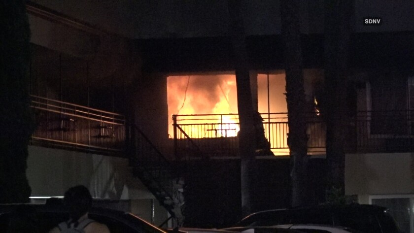 A fire broke out at the Howard Johnson Inn on El Cajon Boulevard
