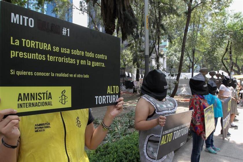 """El Subcomité de la ONU para la Prevención de la Tortura (SPT) pidió hoy a México una lucha """"efectiva"""" contra la impunidad para abatir la tortura y los malos tratos a detenidos, incluyendo la pronta adopción de una ley en la materia, al concluir una visita de diez días al país. EFE/ARCHIVO"""