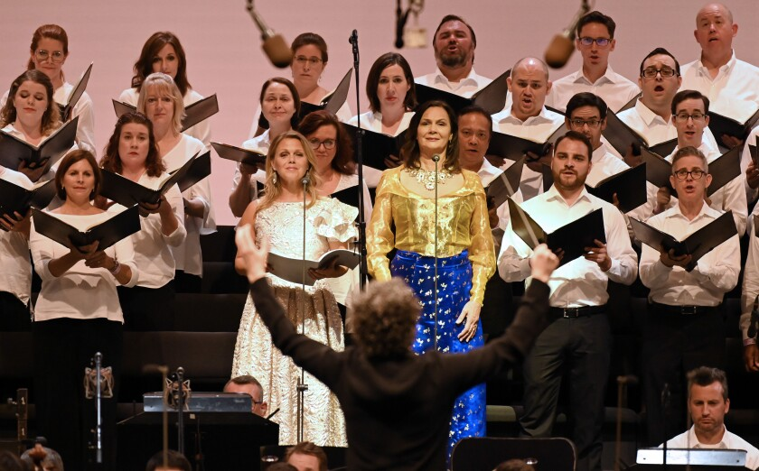 Gustavo Dudamel conducts solo vocalists Miah Persson and Anna Larsson and the Master Chorale.