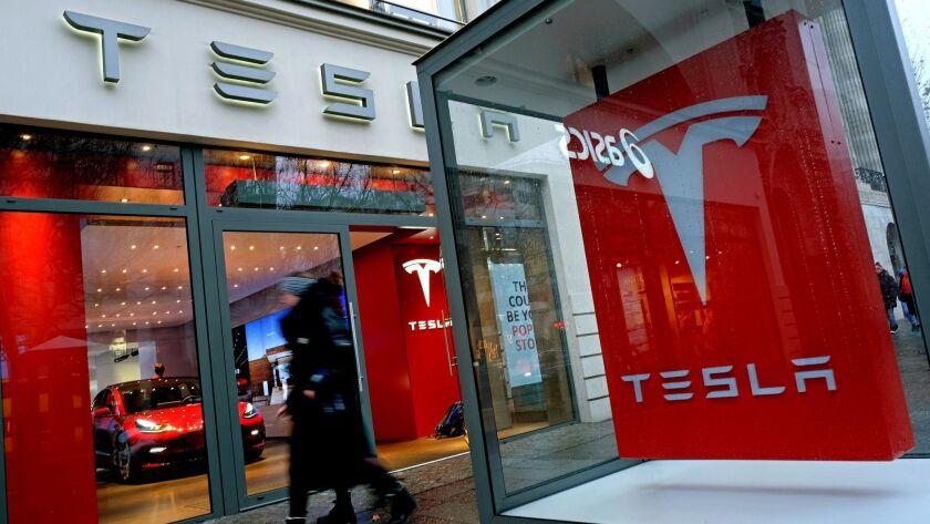 Tesla dealership in Germany