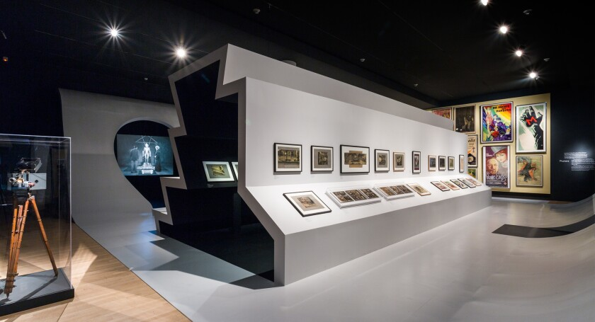 Installation view of 'Haunted Screens' at LACMA