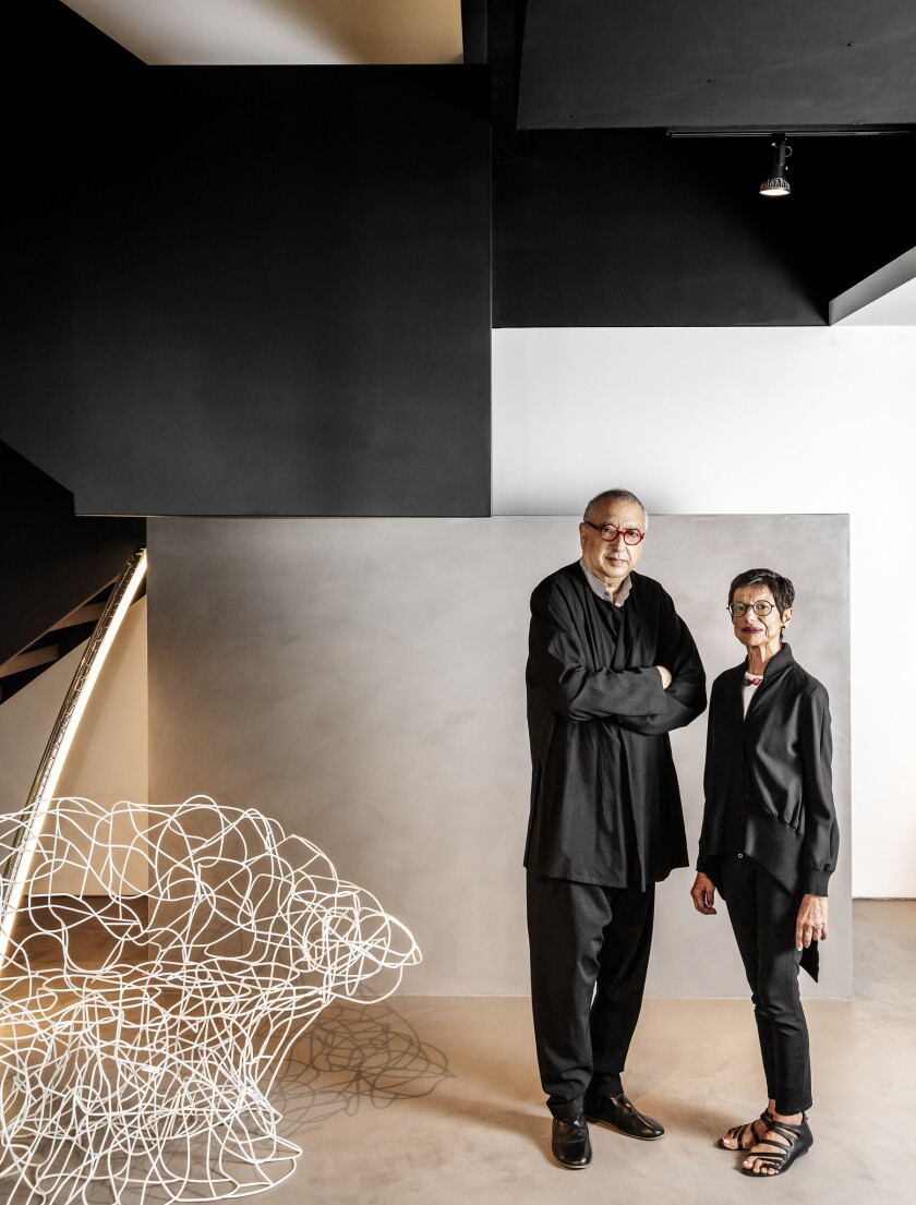Luminaire co-founders Nasir, Lt, and Nargis Kassamali. Luminaire is opening its first West Coast sho