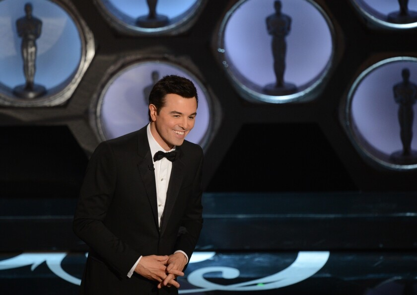 Host Seth MacFarlane onstage at the 85th annual Academy Awards.