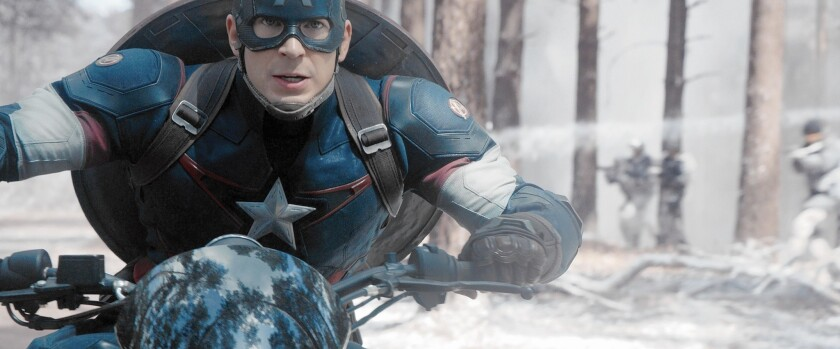 """Chris Evans as Captain America in """"Avengers: Age of Ultron."""""""