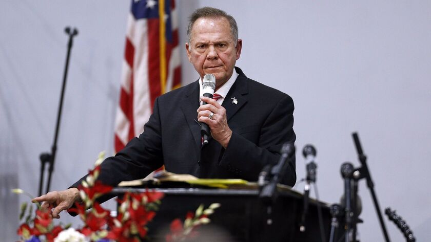 Embattled GOP Senate Candidate Judge Roy Moore Attends Church Revival Service At Baptist Church In Jackson, Alabama