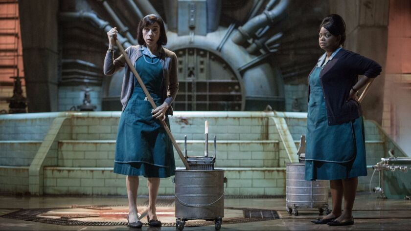 "Sally Hawkins and Octavia Spencer in the film ""THE SHAPE OF WATER."" Credit: Kerry Hayes / Fox Search"