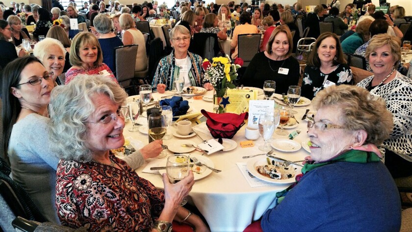 AAUW Poway-Peñasquitos members at a pre-COVID scholarship fundraiser.