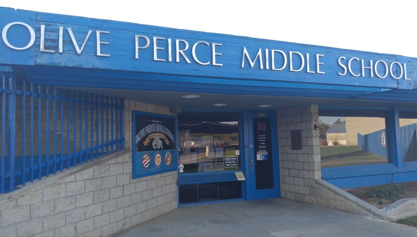 Olive Peirce Middle School students are adjusting to a new principal and on-campus learning during the coronavirus pandemic.