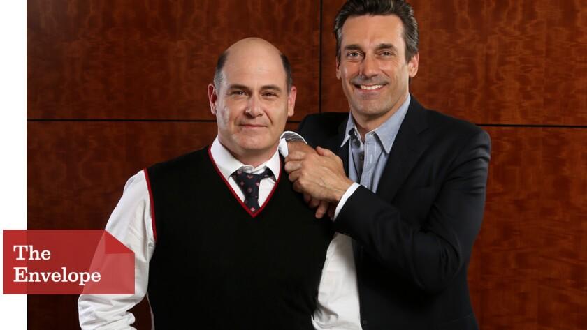 """""""Mad Men"""" creator Matthew Weiner and star Jon Hamm developed a deep trust over seven seasons."""