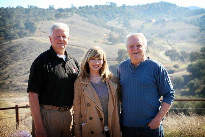 Richard and Lynda Kerr with PAWS founder Ed Stewart.