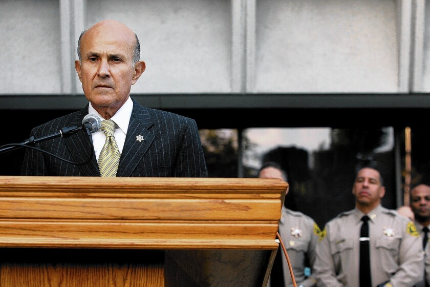 L.A. County Sheriff Lee Baca said at a news conference Monday that 99.9% of the agency's employees were on the right track.