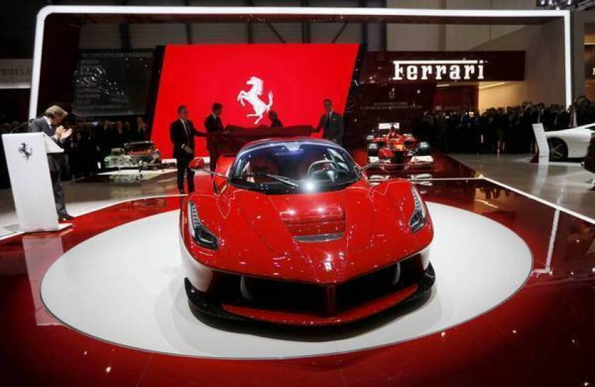 The LaFerrari, unveiled this month in Geneva, has a V-12 engine making 789 horsepower and an electric motor making an additional 161 horsepower. A second, smaller electric motor powers the car's ancillary systems.