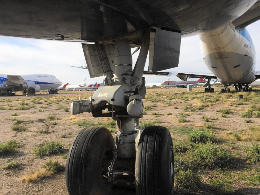 Arizona's Pinal Airpark serves as airport, graveyard