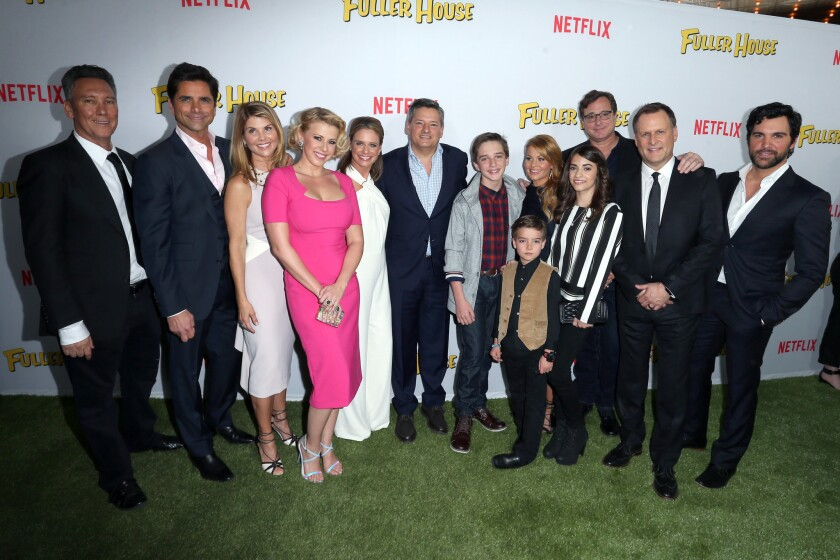 """The """"Fuller House"""" cast and crew at the show's premiere at the Grove on Feb. 16."""