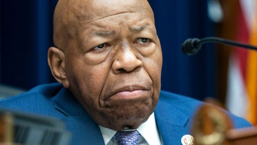 House Oversight Chair Elijah Cummings announces vote to hold Barr, Ross in contempt of Congress, Washington, USA - 04 Jun 2019