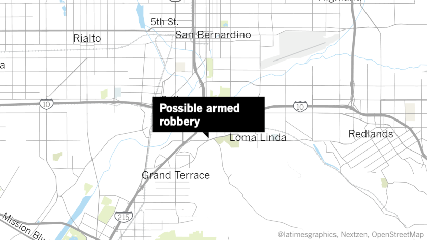 Possible armed robbery in Colton