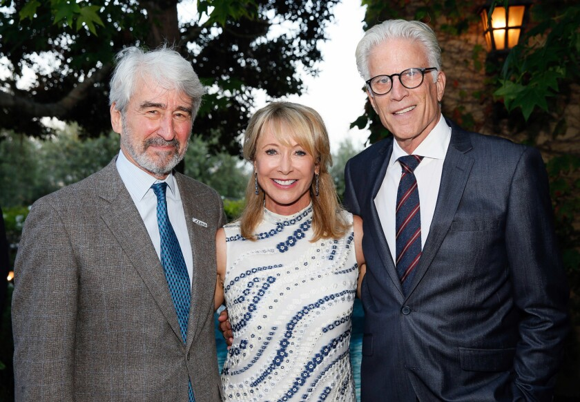 Actor Sam Waterston, co-chair Valarie Van Cleve and actor/emcee Ted Danson host Oceana's Sea Change Summer Party 2017 on July 15 in Laguna Beach.
