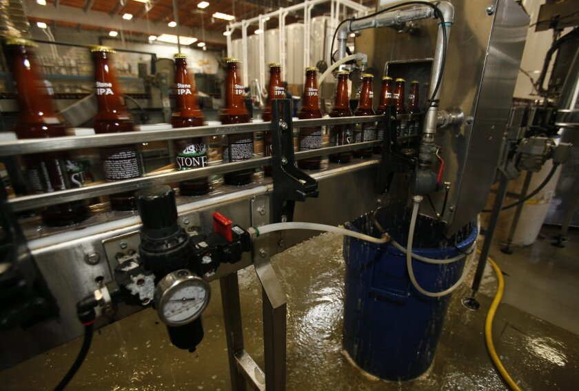 "Stone Brewing Co. in Escondido has taken extensive measures to reduce its water use, but beer -- like almost all products -- still has a ""water footprint"" far bigger than most people realize."