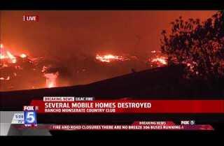 Lilac Fire: Evacuation areas