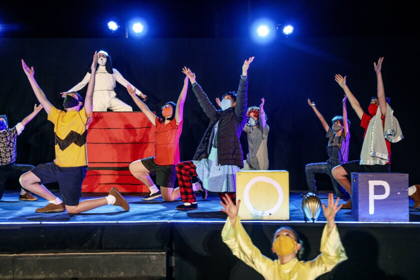 JCompany Youth theater actors perform Snoopy at the Lawrence Family Jewish Community Center