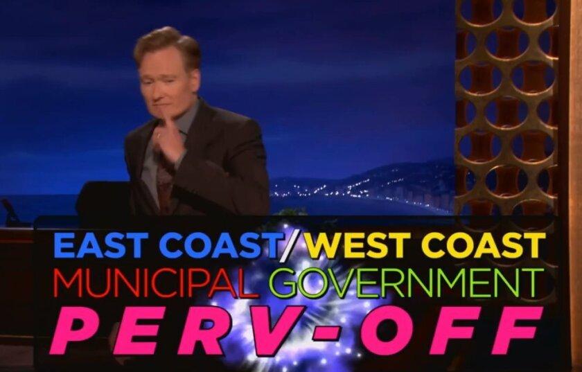 Conan O'Brien has finally weighed into the Mayor Bob Filner scandal, hilariously.