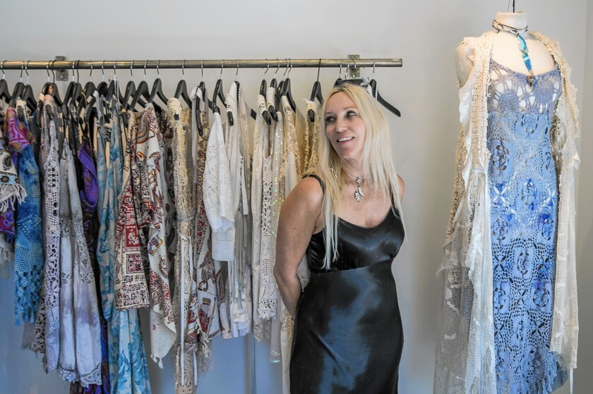 Laguna Clothes Designer Relies On The Magic Of The Muse Los Angeles Times