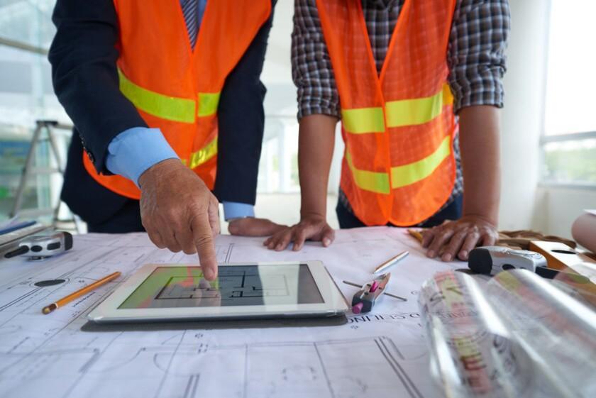 Examining construction plan