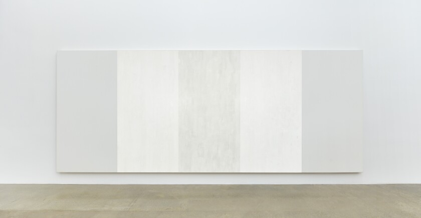 """""""Untitled (White Inner Band)"""" by Mary Corse"""