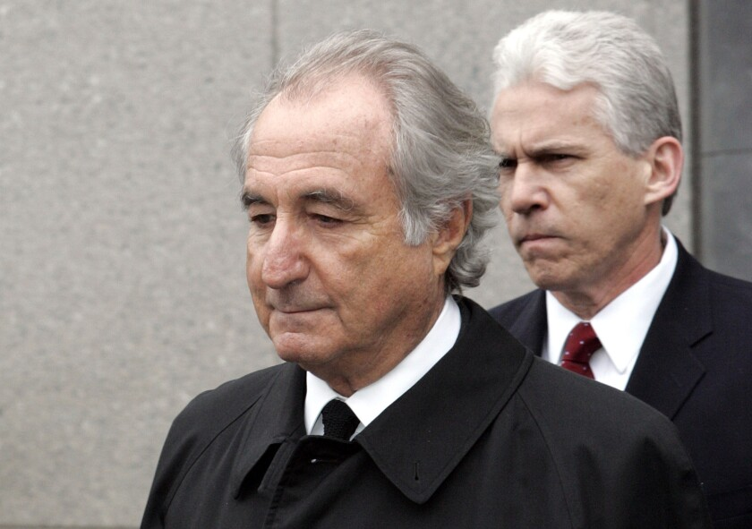 "FILE - In this Tuesday, March 10, 2009, file photo, former financier Bernie Madoff exits federal court in Manhattan, in New York. Madoff asked a federal judge Wednesday, Feb. 5, 2020, to grant him a ""compassionate release"" from his 150-year prison sentence, saying he has terminal kidney failure and less than 18 months to live. (AP Photo/David Karp, File)"