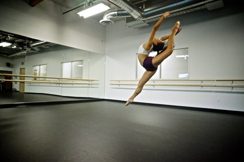 Above: Each studio at the new Royal Dance Academy of Performing Arts in Sorrento Valley has CCTV cameras to tape classes, so instructors can track students' progress.