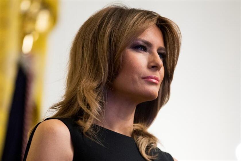 La primera dama de los Estados Unidos Melania Trump asiste a una recepción con motivo del Mes Nacional de la Historia Afroamericana, el jueves 21 de febrero de 2019 en el Salón Este de la Casa Blanca en Washington (EE.UU.). EFE/Archivo