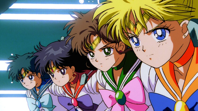 "A scene from the animated film ""Sailor Moon R: The Movie."""