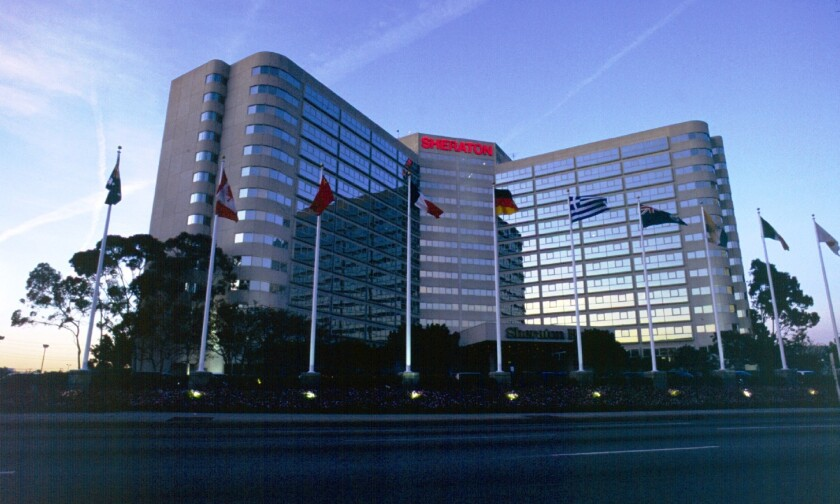 Built in 1980 at 6101 W. Century Blvd., the Sheraton Gateway is one of the hotels closest to the main entrance of the airport and a popular site for business meetings.