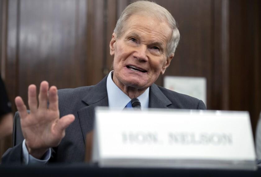 Former U.S. Sen. Bill Nelson speaks.