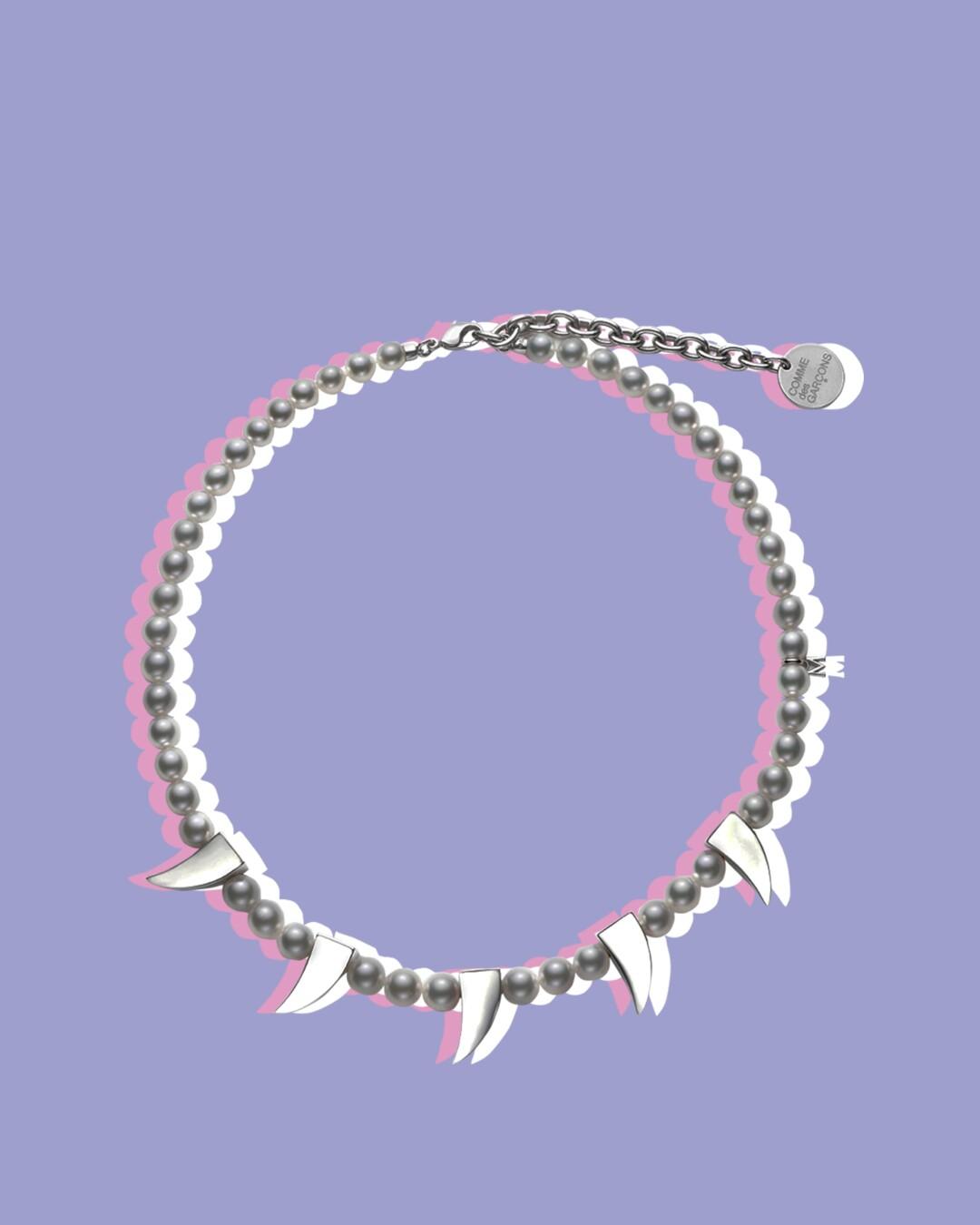 Comme des Garçons X Mikimoto pearl necklace