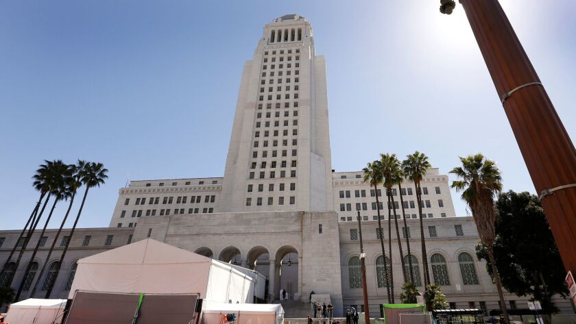 The Los Angeles City Ethics Commission, which meets at City Hall downtown, voted to approve multiple fines at its meeting Tuesday.