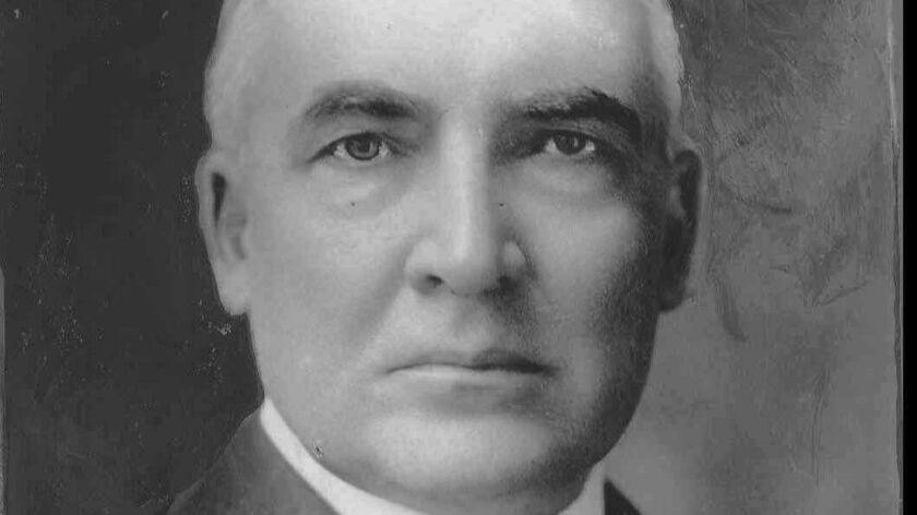 Former President Warren G. Harding.
