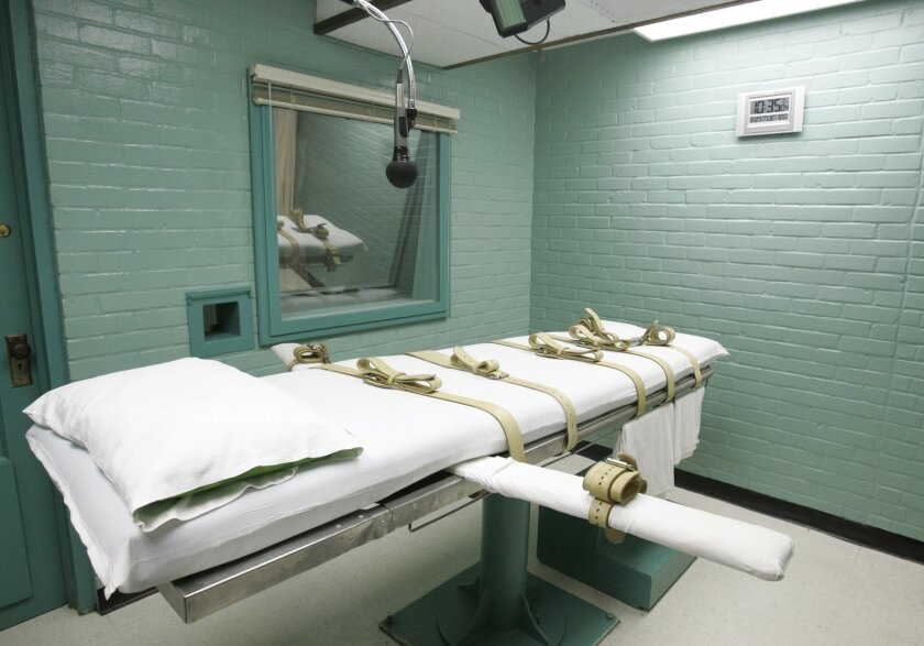 This 2008 photo shows the gurney in Huntsville, Texas where the state's condemned were strapped down to receive a lethal dose of drugs.