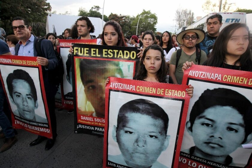 Protesters remember missing 43 students