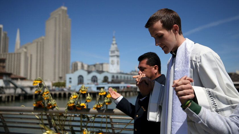 Prayer Service Held For Kathryn Steinle Shot Randomly On San Francisco's Embarcadero