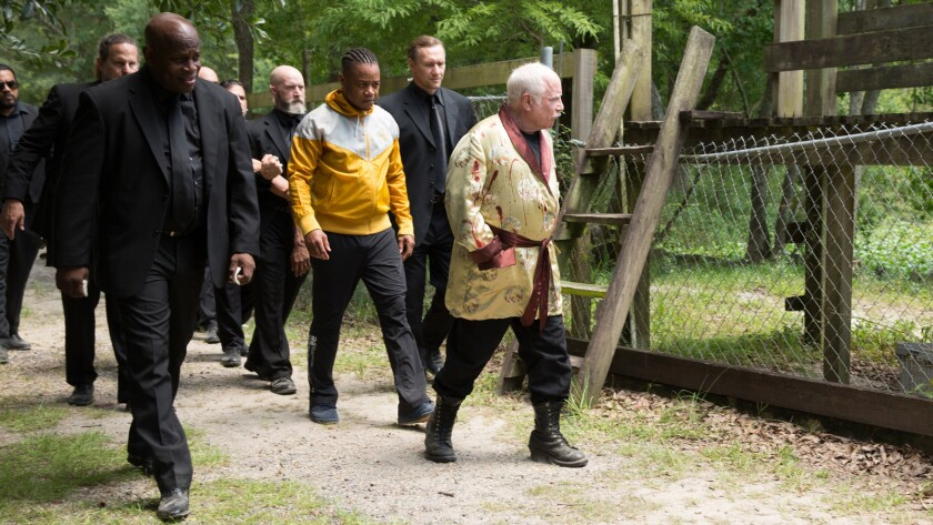 [L-R] Cuba Gooding Jr. as Rodney and Richard Dreyfuss as Yuri in the film ?Bayou Caviar? a Gravitas