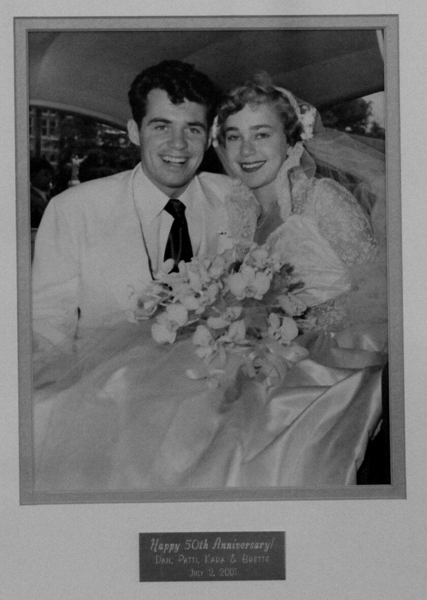 The 1951 wedding photo of Dr. Charles and Mary Alice Steffen.