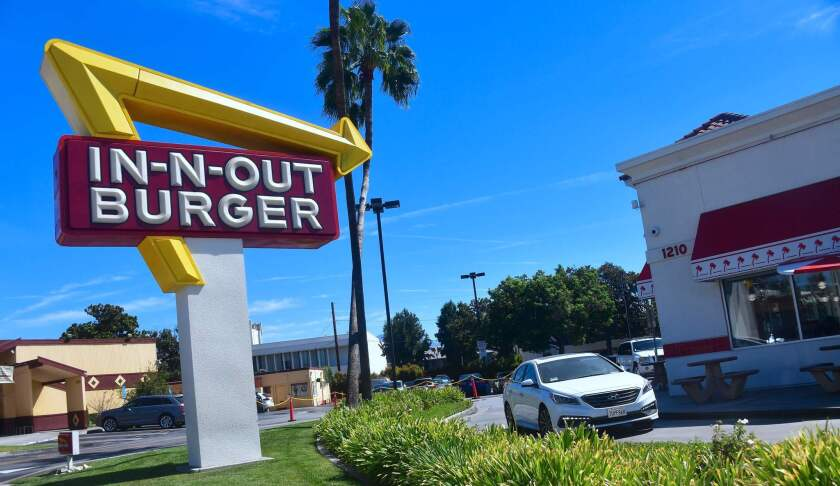The In-N-Out Burder in Alhambra, Calif.