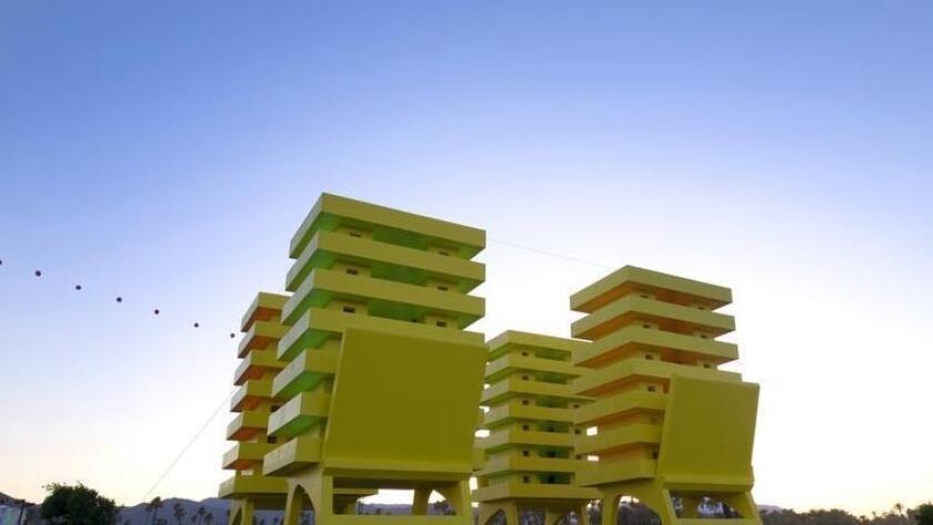 """Katrina Chairs"" by Cuban artist Alexandre Arrechea (/ Coachella)"