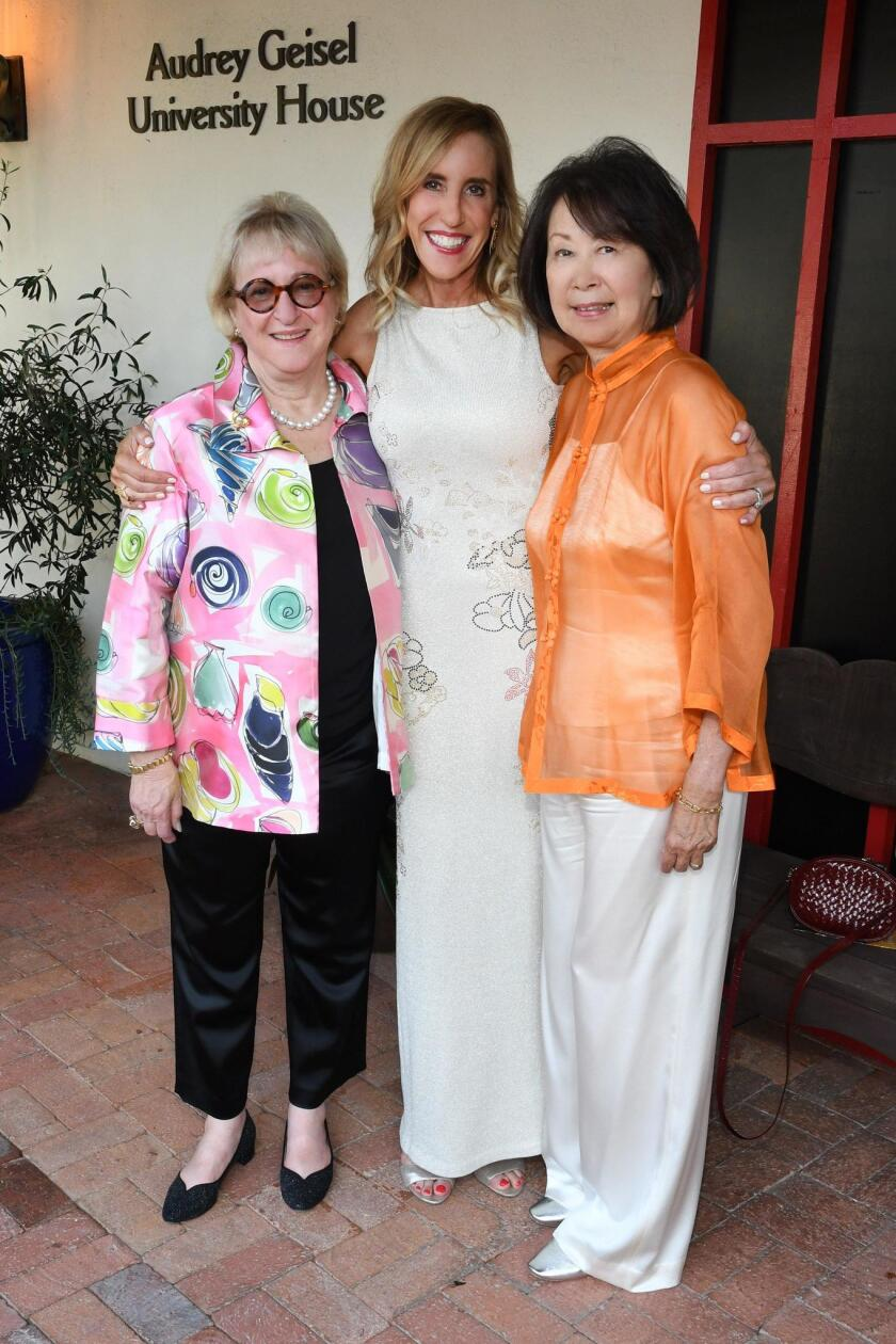Martha Dennis (SummerFest honorary chair), Katherine Chapin, Dolly Woo (SummerFest gala chair)