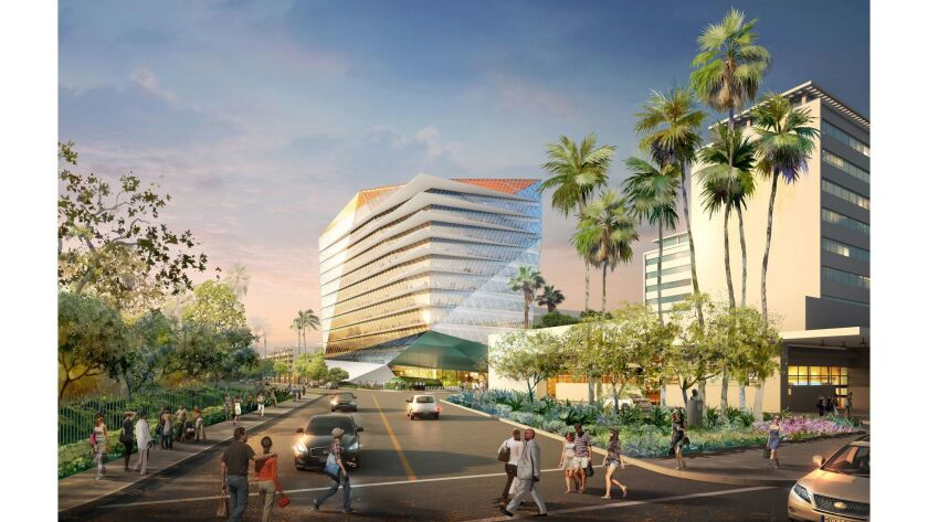 Los Angeles developer J.H. Snyder Co. plans to build this 12-story office building.